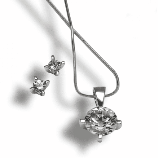 Silberschmuck mit Kristalle aus Graubünden