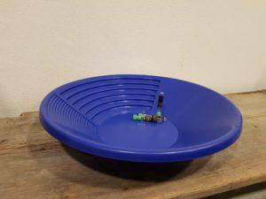 Goldwaschpfanne Blau