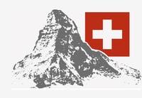 Matterhorn mit Schweizerkreuz