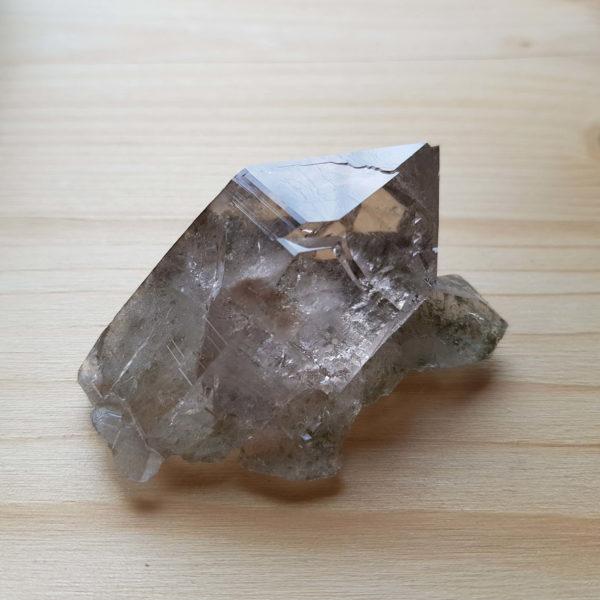 Rauchquarz Kristall Einzel Spitz