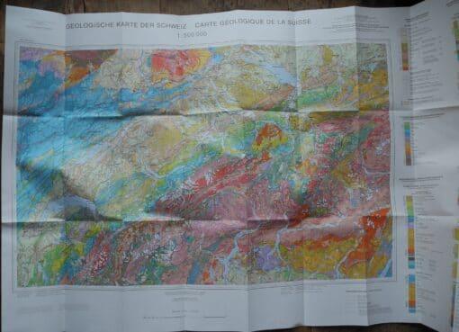 Geologische Karte der Schweiz