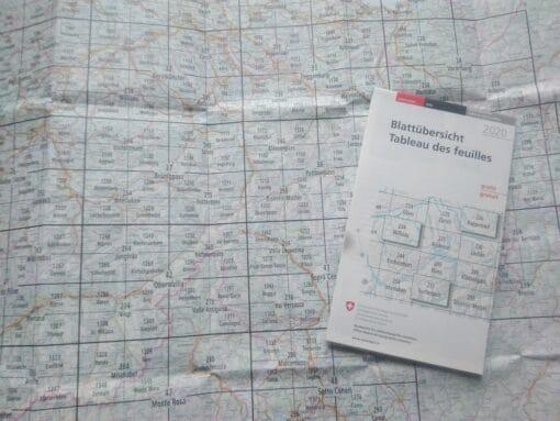 Landeskarten der Schweiz Blattübersicht2