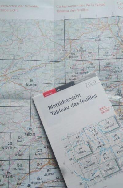 Landeskarten der Schweiz Blattübersicht