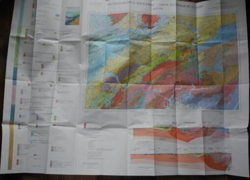 Tektonische Karte der Schweiz
