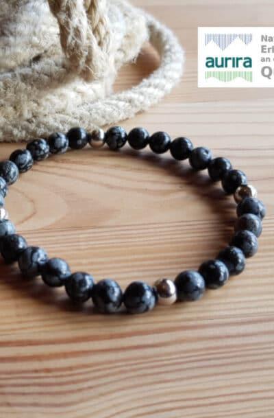 Armband Schneeflocken Obsidian bei aurira GmbH_