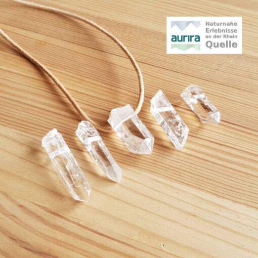 Bergkristall Anhänger Serie 814 - 818 aurira_