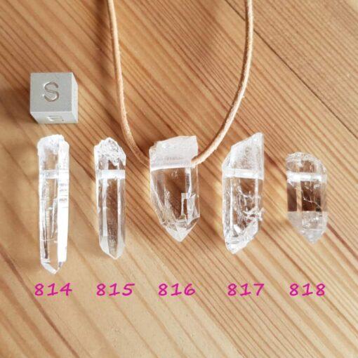 Bergkristall Anhänger Serie 814 - 818 nummeriert_